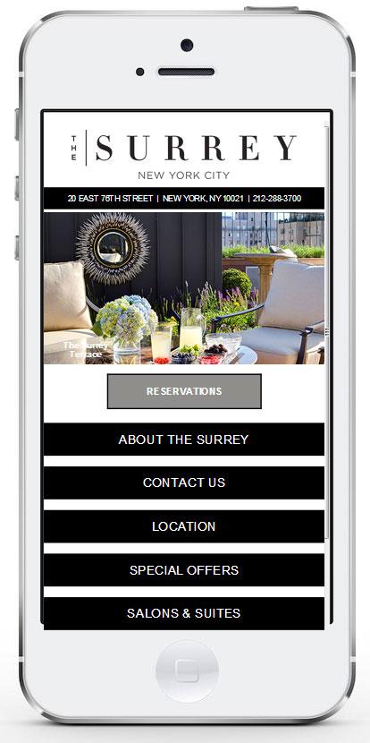 Hotel mobile site